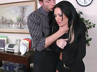 Coworker gets bent over and fucked hard from behind!
