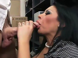 Busty Brunette Mason Moore Squirting To Her Boss' Big Dick