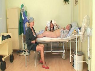 Horny young nurse bitch joins...