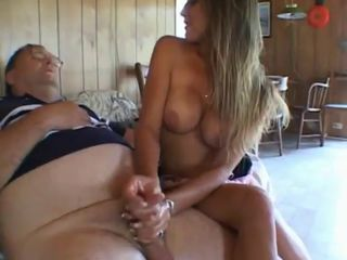 Young Girl Teasing Old Guy