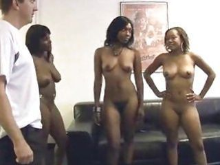 Five or more women suck cock for porn auditions