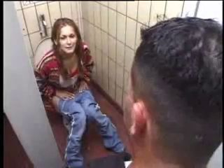 German Slut gets it on Toilet