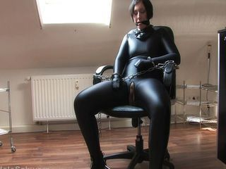 Mistress toys with her Bondage Bitch
