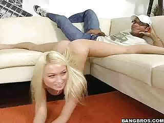 Extremely flexible blonde shows her skills