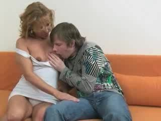 Hot mom likes his fresh young cock