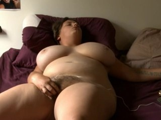 Amateur BBW Big Tits Hairy Masturbating MILF Natural Solo Toy