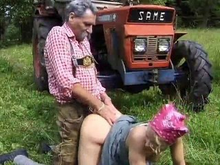 Clothed Doggystyle Farm Old and Young Outdoor Teen