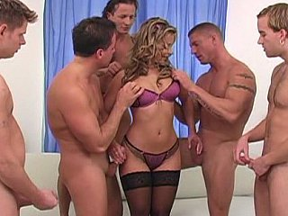Amazing Cute Gangbang Handjob Lingerie MILF Pornstar Stockings