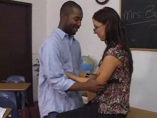 Glasses Interracial MILF School Teacher