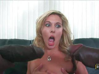 Pretty Blonde Jayne Woods With T...