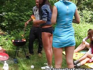 Two Hot Student Girls Work One C...