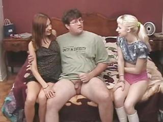 Threesome With Blonde And Brunet...