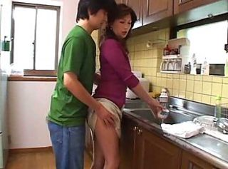 Asian Kitchen Mom Old and Young