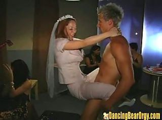 Bride CFNM Drunk MILF Party Public