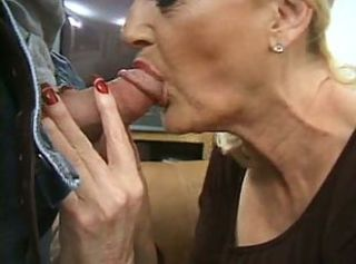 Stockings Granny has Two Men