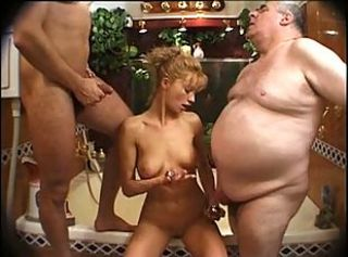 Daddy Daughter Family Old and Young Small cock Teen Threesome
