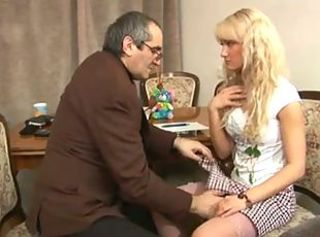 Blonde Old and Young Student Teacher Teen