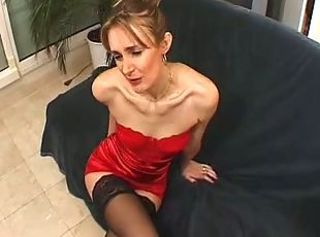 European French MILF Skinny Stockings