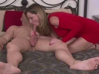 Big cock Blowjob Handjob MILF Mom