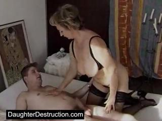 Cute Teen Daughter Extremely Monsterfucked