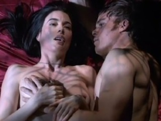Jaime Murray reveals her perky tittes and sexy thong covered ass