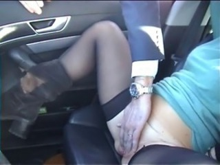 Amateur Car Masturbating Stockings Teen