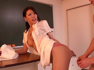 Sexy Asian teacher Haruka Sanada..