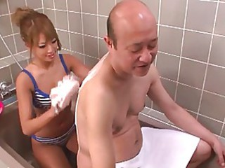 Asian Babe Bathroom Bikini Japanese Old and Young Pornstar
