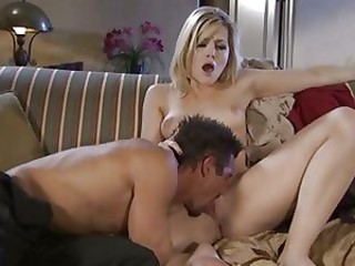 Alexis Texas feels the balls slam against her ass as she\'s drilled by this pole