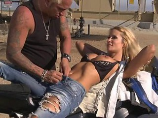 Gorgeous Blonde Jessica Drake Gets Fucked and Covered In Cum Outdoors