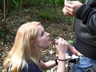 Fucking At The Park With A Slutty Blonde