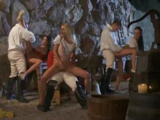 That is how it could be in the past. These nicely dressed ladies are the nowadays pornstars Jessica Drake, Alektra Blue and Kortney Kane. Watch them get dicked in outstanding orgy.