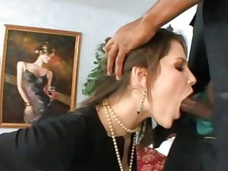 Ball juicing Bobbi Starr gets her hands on two cops\' black truncheons