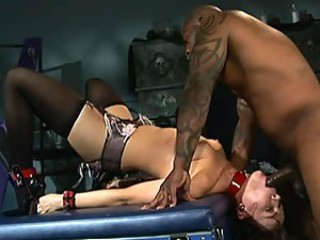 Submissive Anal Slut Dana De Armond Goes Interracial - BDSM Porn Vid