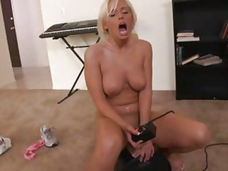 Blonde Angelina Ash gets ready for a serious screwing