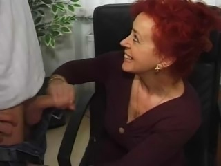 German Handjob Mature Mom Redhead
