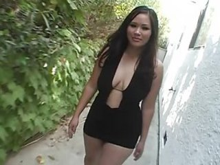 Jessica Bangkok blkDress greenCouch - Asian sex video -