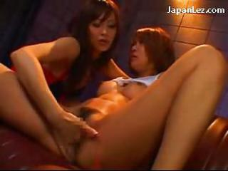Asian Babe Japanese Lesbian Masturbating Natural Squirt