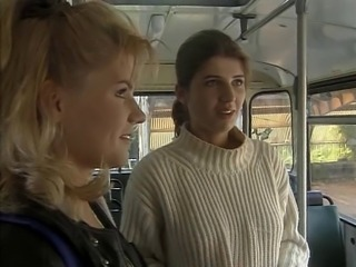 Bus European German Teen Threesome Vintage