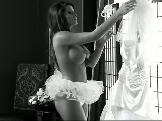 Amazing Big Tits Bride Cute MILF Silicone Tits