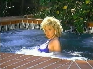 Amazing Blonde MILF Outdoor Pool Pornstar Vintage