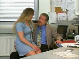 Chubby Daddy MILF Office