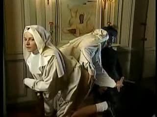 Clothed Nun Teen Threesome Uniform Vintage
