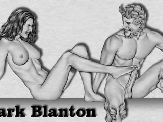 Erotic Drawings of Marc Blanton - Nymphs and Satyr 2