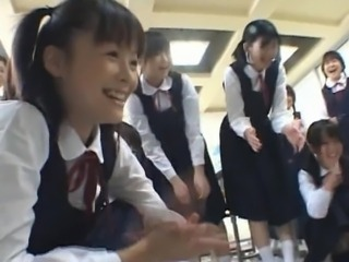 Japanese student fucked in the classroom