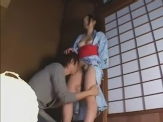 Asian Hairy Japanese Licking MILF Mom Pornstar
