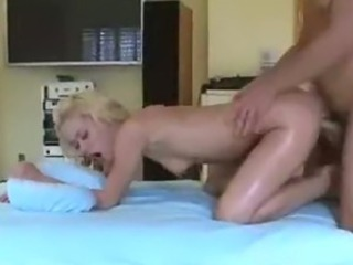 Blonde Takes It Doggy From Her Masseuse