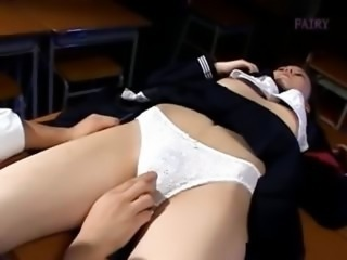 Asian Japanese Panty Skirt Student Teen