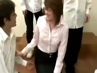 Asian Gangbang Japanese MILF Teacher