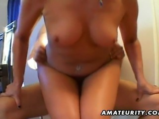 A nasty brunette mature amateur housewife homemade hardcore action with...